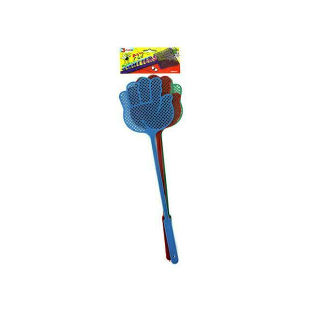 3 Pack fly swatters -assorted colors - Pack of 96