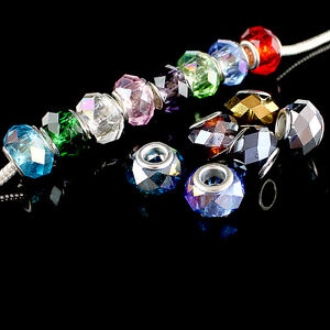 HOT-WHOLESALE-FACETED-CRYSTAL-GLASS-FINDINGS-EUROPEAN-BEADS-FIT-CHARM-BRACELETS