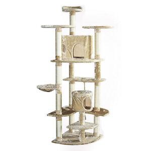 cat play tower ebay. Black Bedroom Furniture Sets. Home Design Ideas