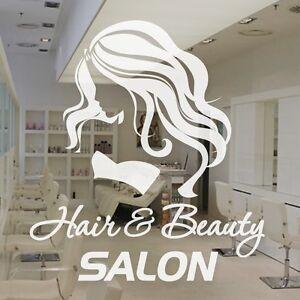 Hair beauty salon hairdresser window sign stickers for Stickers salon