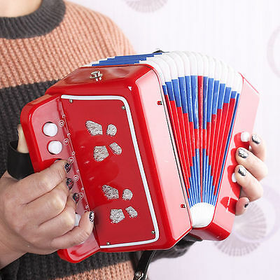 Mini Small Functioning Accordion Musical For Beginner Kids Toy Instrument ene