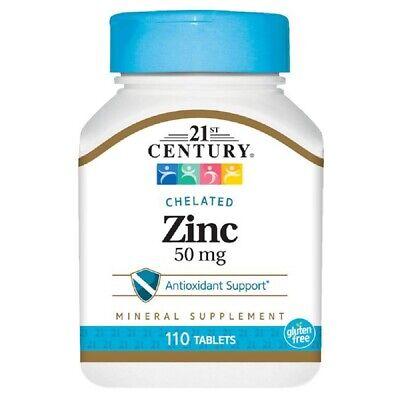 110 Tabletten (Zink Chelat 50mg Zinc Chelate 21st Century 110 Tabletten 10% gratis)