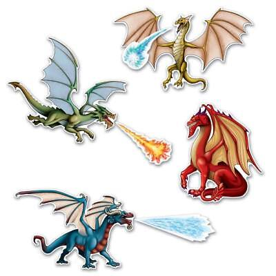 Dragon Cutouts Party Accessory Boys Birthday Dragon Party Supplies - Dragon Decorations