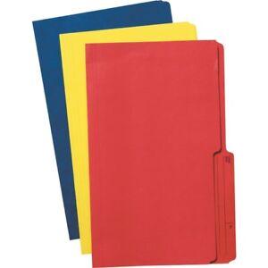 Basics Blue Reversible File Folders Legal 100/box
