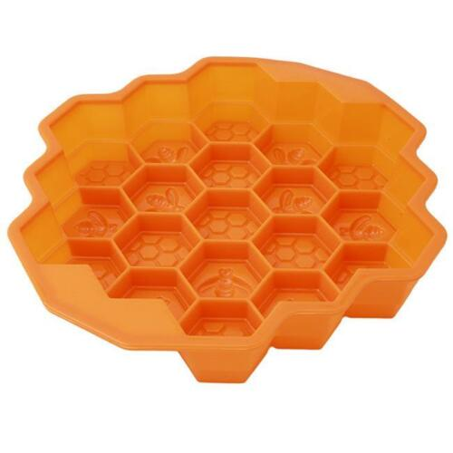Cake Mold Bee Honeycomb Flexible Silicone Candy Chocolate Soap Cookie  Mold MP