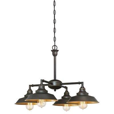 Modern Farmhouse Chandelier Light Bronze Pendant Lamp Rustic Ceiling Fixture