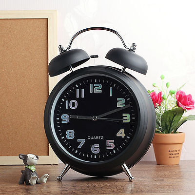 Fancy Light Big Hammer bell Clock Analog Home Decor Modern Style Alarm Clocks