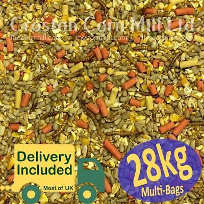 28kg Gourmet 'ZERO' Grow WILD BIRD MIX with Sunflower Hearts, Suet & Mealworms