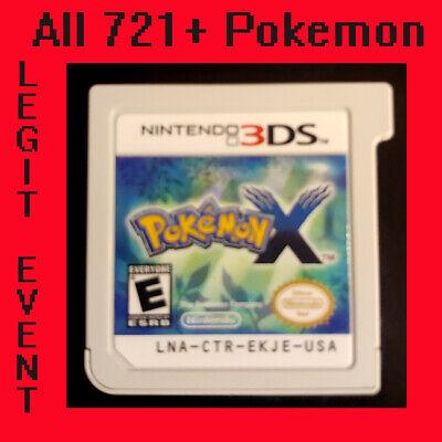 Pokemon X - Loaded With All 721 + 120+ Legit Event Pokemon Unlocked (3DS)