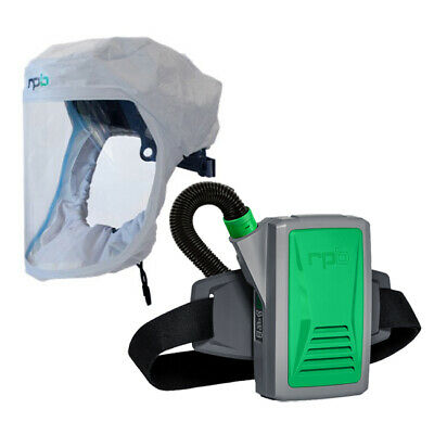 Papr Powered Air Purifying Respirator Face Hood - Long-life Battery Hepa Filt