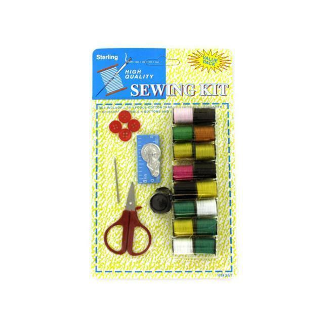 Bulk Buys HB067-72 All-in-One Sewing Kit on Blister Card with Hanging Hole - ...