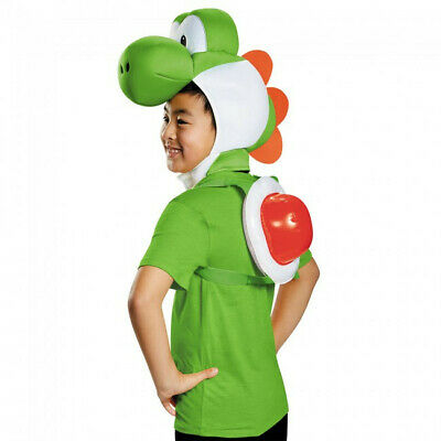 Yoshi Child Costume Kit Super Mario Bros Nintendo Kids Shell Headpiece - Mario Costume Boys