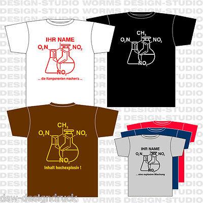 T-Shirt CHEMIE / TNT Chemiker Laborant / S-XXL  /  versch. Farben und Varianten
