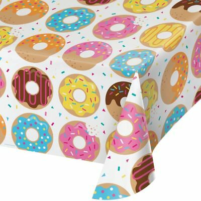 Donut Time Plastic Banquet Tablecloth 54