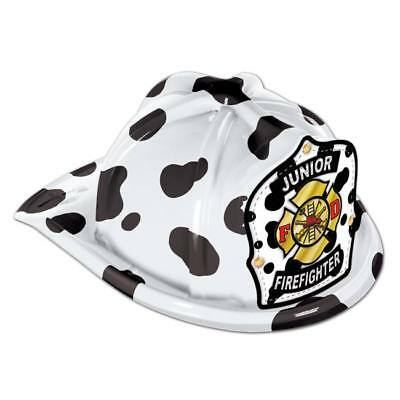 Jr Firefighter Plastic Hat Dalmatian Child Size Firefighter Birthday Party Favor](Firefighter Party Hats)