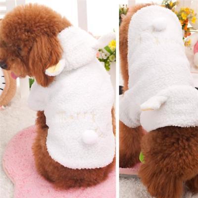 Dog Sheep Costume (Cute Sheep Warm Dog Costume Clothes Small Pet Coat Apparel Jacket Winter NEW)