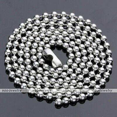 1x Stainless Steel Bead Ball Silver Chain Necklace Solid 2mm Mens Matching Link (Ball Chains)