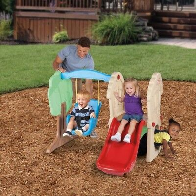 Backyard Playsets for Kids Toddler Outdoor Playset Playground Yard Swing Slide ()