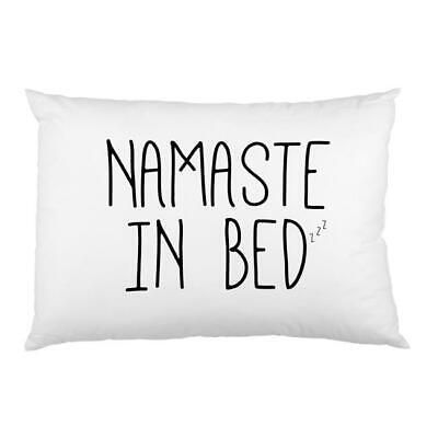 One Bella Casa 73980PCES59 Namaste in Bed Printed Standard Pillow Case Black ...