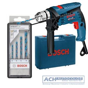 BOSCH Bohrmaschine blau Schlagbohrmaschine GSB 13 RE +Handwerkerkoffer +4 Bohrer