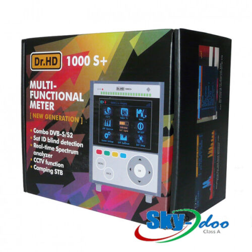 Dr.HD 1000S+ Satellite Meter with Realtime Spectrum Analyzer S/S2 New Generation