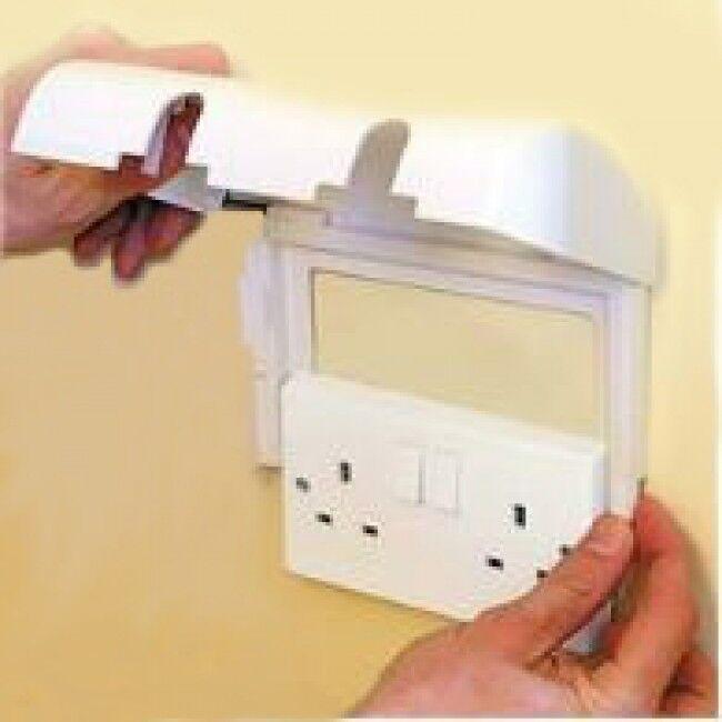 Bébé Enfant Sécurité Boîte... Clippasafe Double Socket protector Prise électrique couverture
