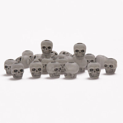 Glow in the Dark Skulls Pony Beads made in USA Halloween crafts paracord - Glow In The Dark Plastic Beads