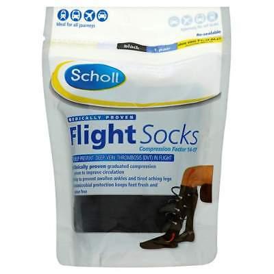 Scholl Cotton Feel Flight Socks 9-12 Large