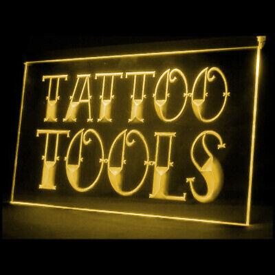 100027 Devil Tattoo Tools Shop Studio Display LED Light Sign