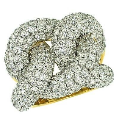 6.79ctw PAVE SET DIAMONDS IN 14K YELLOW GOLD LADIES FASHION RING.