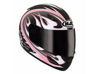 NEW Motorcycle crash helmet GIrls / Ladies HJC CL.-14Y 52cm pink white black grey