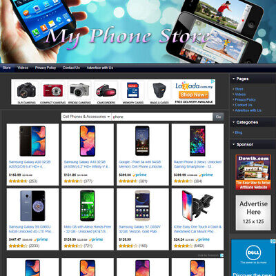 Phone Store - Professionally Affiliate Website For Sale Free Domain Hosting