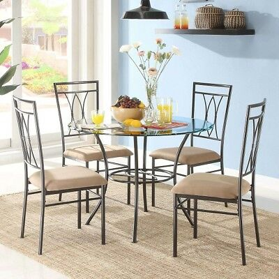 Dining Room Furniture Set Kitchen Table And Chairs Sets Modern Round 5 Piece