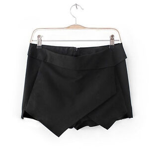 *BLOGGERS FAV* Women Shorts Black White Wrap Mini Skirts With Invisible Zipper O
