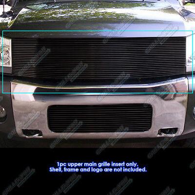 Fits 04-07 Nissan Armada /04-15 Titan Black Main Upper Billet Grille Insert ()