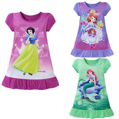 Mermaid Toddler Dress (Toddler Child Kids Girl Cartoon Mermaid Short Sleeve Princess Tutu Dress)