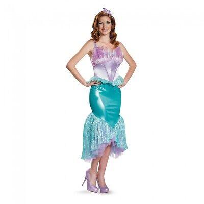 Disguise Disney Little Mermaid Ariel Deluxe Adult Womens Halloween Costume 85686 - Adult Ariel Halloween Costumes