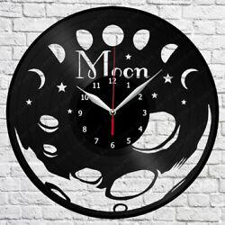 Moon Vinyl Record Wall Clock Art Decor Original Gift 12 30cm 1740