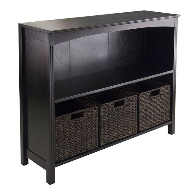 Wood Storage Cabinet Organizer Shelf Living Room Furniture D