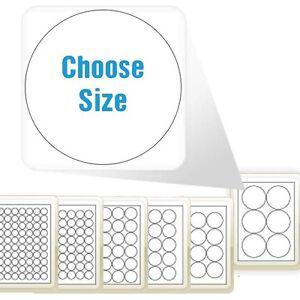 a4 matte round circle circular label paper sticky stickers inkjet laser printer. Black Bedroom Furniture Sets. Home Design Ideas