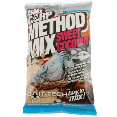Bait Tech NEW Big Carp Method Mix Sweet Coconut Fishing Groundbait 2kg