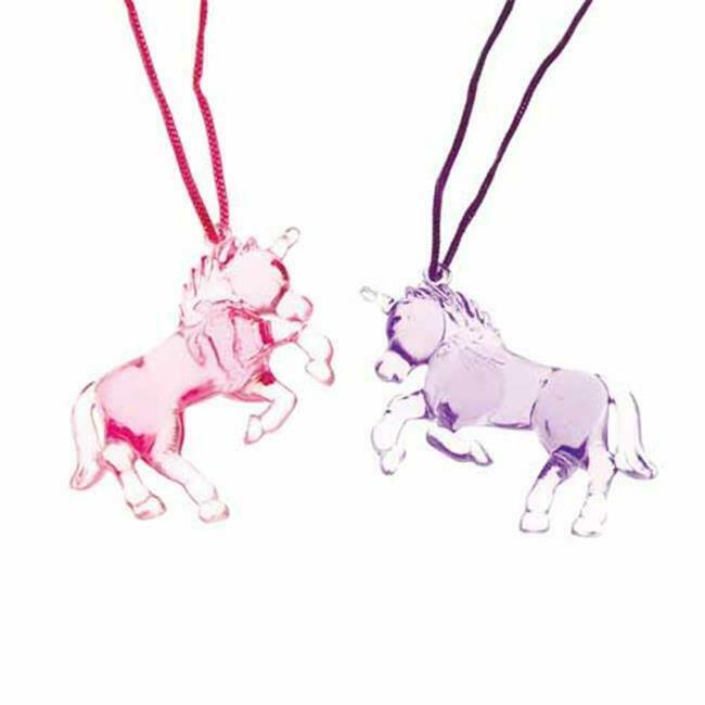 US Toy Company JA743 Unicorn Necklaces - Pack of 12