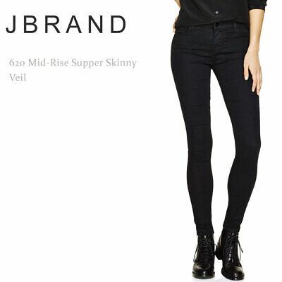 NWT J BRAND 620 Mid-Rise Super Skinny In Black Stocking Sz 22 23 24 30 31 $198
