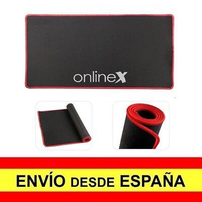 Alfombrilla Teclado y Raton Antideslizante Mouse XXL Gaming Negro Rojo a3390