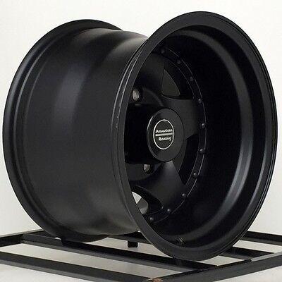 15 Inch Black Wheels - 1- 15 inch Black Wheels Rims American Racing AR23 AR235165B 15x10