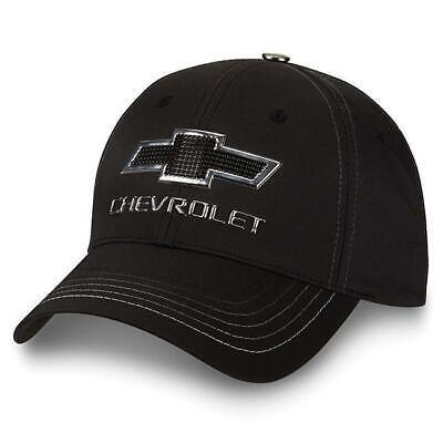 Chevy Truck Black/ Silver Metallic Badge Logo Cap New Chevrolet Bowtie Hat