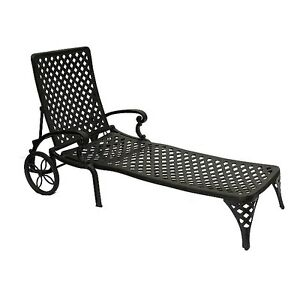 DOT Cast Aluminum Weave Chaise Lounge