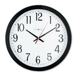 Howard Miller Clock 625166 Gallery Wall Clock 16in Black 1 AA Battery
