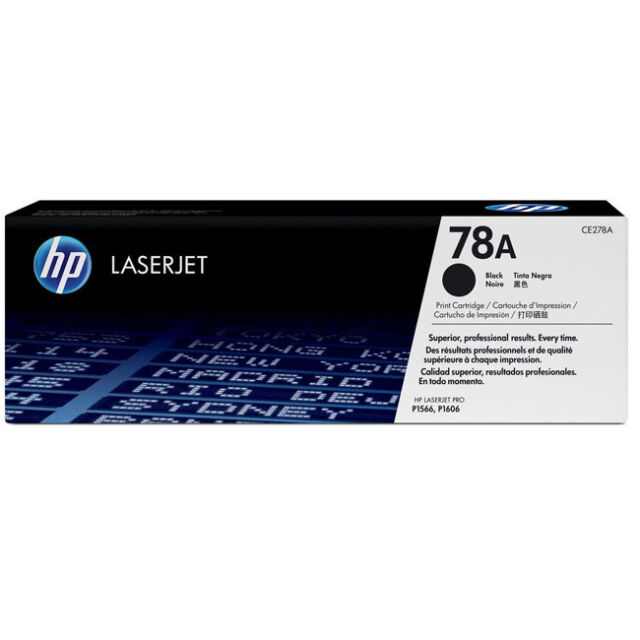GENUINE HP HEWLETT PACKARD CE278A / HP 78A BLACK LASER PRINTER TONER CARTRIDGE