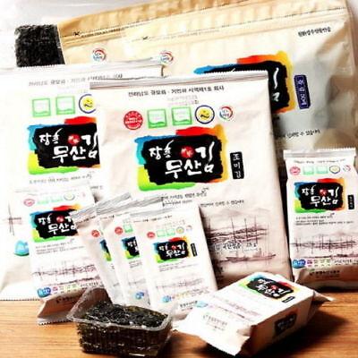 Organic Dried Seaweed 100 Sheets Korean Food Laver Salty N_o